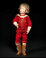 BNPS.co.uk (01202 558833)<br /> Pic: Bonhams/BNPS<br /> <br /> ***Please Use Full Byline***<br /> <br /> Kammer &amp; Reinhardt 107 'Carl' Bisque Head Character Doll. <br /> <br /> <br /> A creepy collection of almost 100 'lifelike' dolls modelled on children has emerged for sale with a whopping half a million pounds price tag. <br /> <br /> The eerie-looking toys were made in Germany in the early 20th century as dollmakers strived to produce dolls with realistic human features.<br /> <br /> The collection of 92 dolls, which includes some of the rarest ever made, has been pieced together by a European enthusiast over the past 30 years.<br /> <br /> It is expected to fetch upwards of &pound;500,000 when it goes under the hammer at London auction house Bonhams tomorrow (Weds).