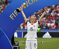 20190707 - LYON , FRANCE : American Megan Rapinoe pictured during the female soccer game between The United States of America – USA-  and the Netherlands – Oranje Leeuwinnen -, the final  of the FIFA Women's  World Championship in France 2019, Sunday 7 th July 2019 at the Stade de Lyon  Stadium in Lyon  , France .  PHOTO SPORTPIX.BE | DAVID CATRY