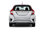 Straight rear view of 2017 Honda Fit EX 5 Door Hatchback Rear View  stock images