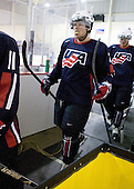 Kenny Ryan (US - 20) - Team USA defeated Team Russia 6-0 in their final game during the 2009 USA Hockey National Junior Evaluation Camp on Saturday, August 15, 2009, in the USA (NHL-sized) Rink in Lake Placid, New York.