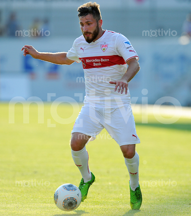 FUSSBALL  1. Bundesliga   2013/2014   Testspiel  FC Heidenheim - VfB Stuttgart   13.07.2013 Tunay Torun (VfB Stuttgart) am Ball