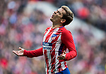 Antoine Griezmann of Atletico de Madrid reacts during the La Liga 2017-18 match between Atletico de Madrid and UD Las Palmas at Wanda Metropolitano on January 28 2018 in Madrid, Spain. Photo by Diego Souto / Power Sport Images