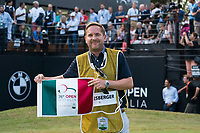 During prize giving on the 18th green during the final round of the 76 Open D'Italia, Olgiata Golf Club, Rome, Rome, Italy. 13/10/19.<br /> Picture Stefano Di Maria / Golffile.ie<br /> <br /> All photo usage must carry mandatory copyright credit (© Golffile | Stefano Di Maria)