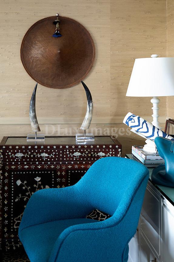 Cyan blue armchair