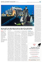 die tageszeitung taz (German daily) on cultural politics in Hungary, 2013.12.10<br /> Photo: Martin Fejer