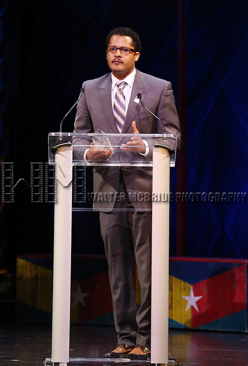 Brandon J. Dirden during the 69th Annual Theatre World Awards Presentation at the Music Box Theatre in New York City on June 03, 2013.