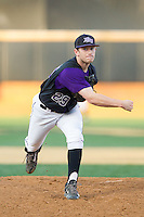 High Point Panthers relief pitcher Cas Silber (29) follows through on his delivery against the Wake Forest Demon Deacons at Wake Forest Baseball Park on April 2, 2014 in Winston-Salem, North Carolina.  The Demon Deacons defeated the Panthers 10-6.  (Brian Westerholt/Four Seam Images)