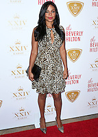 BEVERLY HILLS, CA, USA - OCTOBER 16: Sanaa Lathan arrives at the XXIV Karat Launch Party held at the Beverly Hilton Hotel on October 16, 2014 in Beverly Hills, California, United States. (Photo by Xavier Collin/Celebrity Monitor)