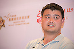 Yao Ming during the Sports Legends Press Conference on the sidelines of the World Celebrity Pro-Am 2016 Mission Hills China Golf Tournament on 22 October 2016, in Haikou, China. Photo by Weixiang Lim / Power Sport Images