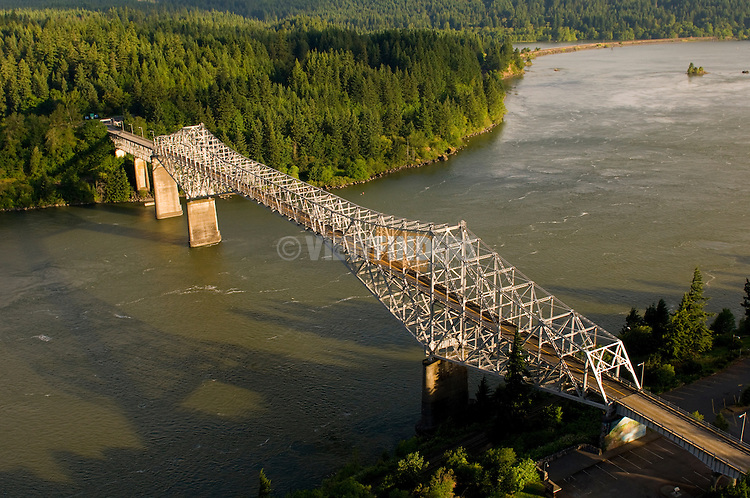 Aerial View of the Bridge of the Gods, Cascade Locks, Oregon