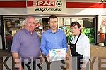 O'Connors Spar Express, Rathass, Tralee celebrate their Spar 5 star award from left: Michael Sommers, Cieran O'Connor and Clodagh Moriarty.