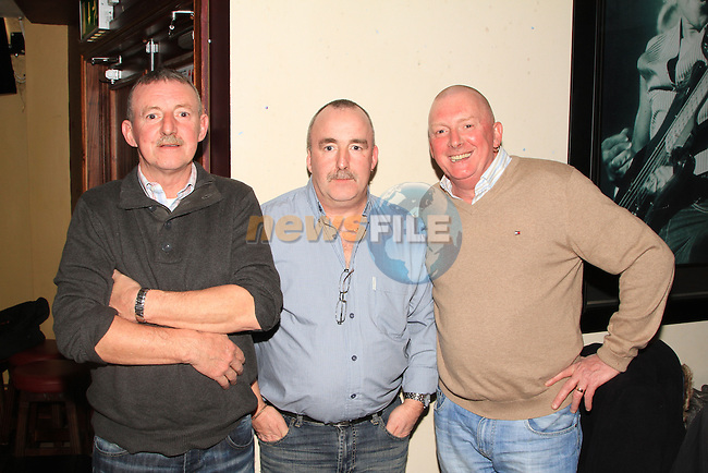 Three brothers; Tommy, Martin and Paddy Dyas at the Peter Lyons' Bakery Reunion in McHughs..Picture: Shane Maguire / www.newsfile.ie.