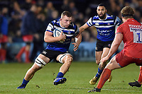 Sam Underhill of Bath Rugby in possession. Gallagher Premiership match, between Bath Rugby and Sale Sharks on December 2, 2018 at the Recreation Ground in Bath, England. Photo by: Patrick Khachfe / Onside Images