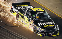 Nov. 7, 2008; Avondale, AZ, USA; Nascar Craftsman Truck Series driver Kenny Wallace after crashing during the Lucas Oil 150 at Phoenix International Raceway. Mandatory Credit: Mark J. Rebilas-