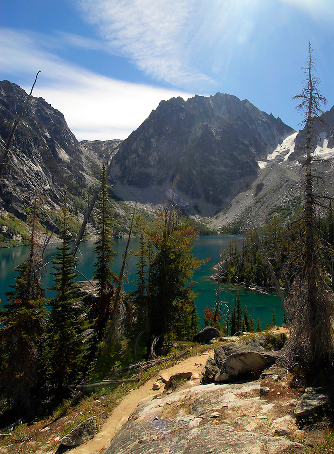 Colchuck Lake, Alpine Lakes Wilderness, WA.
