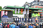 Sport Vlaanderen-Baloise at the team presentation before the start of the 105th edition of Li&egrave;ge-Bastogne-Li&egrave;ge 2019, La Doyenne, running 256km from Liege to Liege, Belgium. 27th April 2019<br /> Picture: ASO/Gautier Demouveaux | Cyclefile<br /> All photos usage must carry mandatory copyright credit (&copy; Cyclefile | ASO/Gautier Demouveaux)