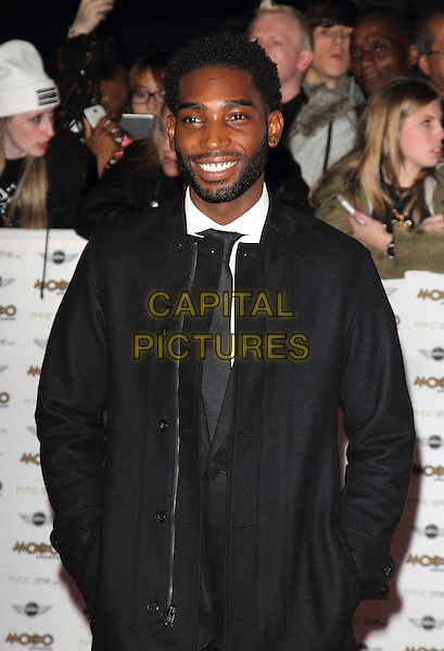 LONDON, ENGLAND - OCTOBER 22: Tinie Tempah attends the MOBO Awards at SSE Arena on October 22, 2014 in London, England. <br /> CAP/ROS<br /> &copy;Steve Ross/Capital Pictures