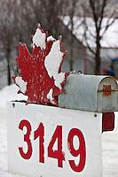 Amérique/Amérique du Nord/Canada/Québec/ Env de Québec/Île d'Orléans/Sainte-Famille: Enseigne d'une Cabane à Sucre