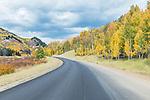 USA, CO, Autuman Road near Steamboat Lake