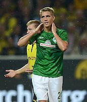 FUSSBALL   1. BUNDESLIGA   SAISON 2012/2013   1. SPIELTAG Borussia Dortmund - SV Werder Bremen                  24.08.2012      Nils Petersen (SV Werder Bremen) ist enttaeuscht