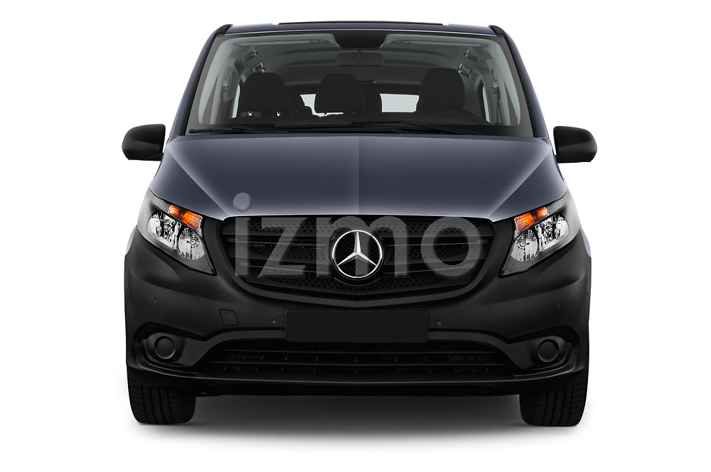 Car photography straight front view of a 2017 Mercedes Benz Vito-Tourer Pro 4 Door Combi Front View