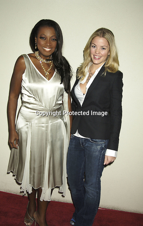 Star Jones and Bree Williamson of One Life to LIve ..at ABC Casino Night on October 27, 2005 at The Lighthouse at Chelsea Piers. ..Photo by Robin Platzer, Twin Images