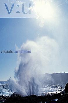Blowhole, wave activated, Espanola Island, Galapagos Island