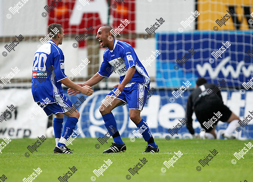 2008-08-17 / Voetbal / R. Antwerp FC - KSK Ronse / Invaller Sofiane Moumou scoorde in de slotminuut de beslissende 1-2 voor Ronse..Foto: Maarten Straetemans (SMB)