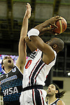 USA's Kobe Bryant (r) and Argentina's Juan Gutierrez during friendly match.July 22,2012. (ALTERPHOTOS/Acero)