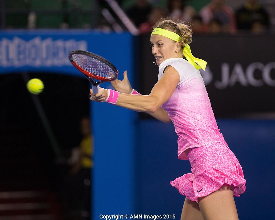 Petra Kvitova (CZE)<br /> <br /> Tennis - Australian Open 2015 - Grand Slam -  Melbourne Park - Melbourne - Victoria - Australia  - 24 January 2015. <br /> &copy; AMN IMAGES