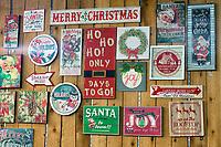 Christmas signs.