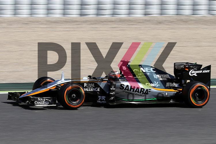 Barcelona, 10.05.15, Motorsport, Formel 1 GP Spanien 2015, Freies Training : Nico Hulkenberg (Force India VJM08, #27)<br /> <br /> Foto &copy; P-I-X.org *** Foto ist honorarpflichtig! *** Auf Anfrage in hoeherer Qualitaet/Aufloesung. Belegexemplar erbeten. Veroeffentlichung ausschliesslich fuer journalistisch-publizistische Zwecke. For editorial use only.