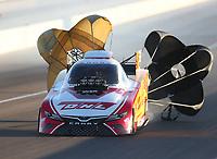Nov 1, 2019; Las Vegas, NV, USA; NHRA funny car driver J.R. Todd during qualifying for the Dodge Nationals at The Strip at Las Vegas Motor Speedway. Mandatory Credit: Mark J. Rebilas-USA TODAY Sports