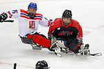 Wataru Horie (JPN), <br /> MARCH 13, 2018 - Para Ice Hockey : <br /> Qualification round between Czech Republic 3-0 Japan <br /> at Gangneung Hockey Centre during the PyeongChang 2018 Paralympics Winter Games in Pyeongchang, South Korea. <br /> (Photo by Yusuke Nakanishi/AFLO)