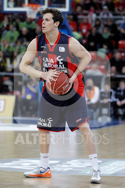Caja Laboral Baskonia's Thomas Heurtel during Spanish Basketball King's Cup semifinal match.February 07,2013. (ALTERPHOTOS/Acero)