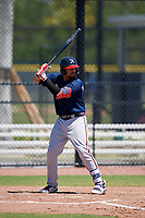 Atlanta Braves Ray Hernandez (30) during a Minor League Extended Spring Training game against the Tampa Bay Rays on April 15, 2019 at CoolToday Park Training Complex in North Port, Florida.  (Mike Janes/Four Seam Images)