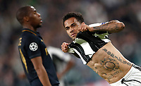 Football Soccer: UEFA Champions League semifinal second leg Juventus - Monaco, Juventus stadium, Turin, Italy,  May 9, 2017. <br /> Juventus' Dani Alves celebrates after scoring during the Uefa Champions League football match between Juventus and Monaco at Juventus stadium, on May 9, 2017.<br /> UPDATE IMAGES PRESS/Isabella Bonotto