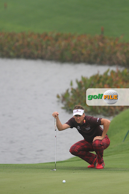 Ian Poulter (ENG) on the 6th on the 8th on Day 3 of the BMW Masters 2012 at Lake Malaren Golf Club, Shanghai, China, Tuesday 26/10/12...(Photo www.golffile.ie)