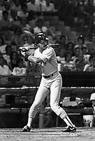 Dwight Evans of the Boston Red Sox during a 1988 season game at Anaheim Stadium,in Anaheim,California.(Larry Goren/Four Seam Images)