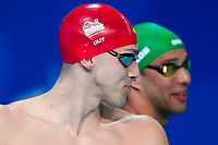 Picture by Alex Whitehead/SWpix.com - 08/04/2018 - Commonwealth Games - Swimming - Optus Aquatics Centre, Gold Coast, Australia - James Guy of England and Chad le Clos of South Africa.