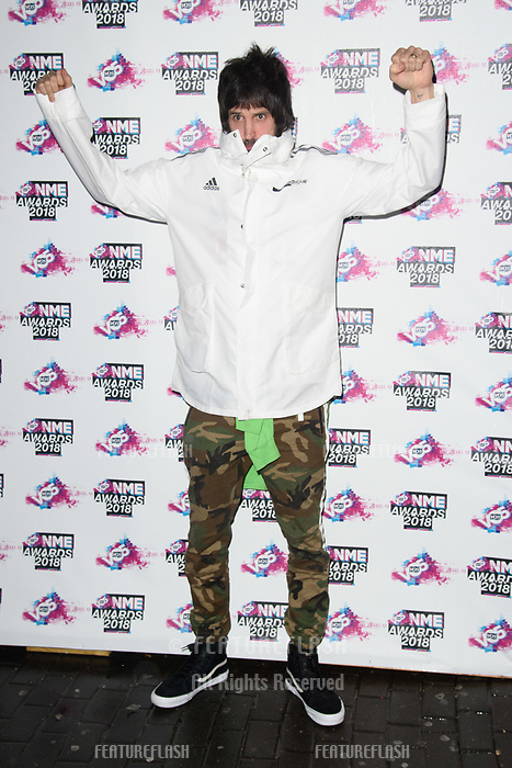 Sergio Pizzorno at the VO5 NME Awards 2018 at the Brixton Academy, London, UK. <br /> 14 February  2018<br /> Picture: Steve Vas/Featureflash/SilverHub 0208 004 5359 sales@silverhubmedia.com