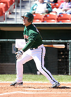 April 21, 2005:  Jake Gautreau of the Buffalo Bisons during a game at Dunn Tire Park in Buffalo, NY.  Buffalo is the International League Triple-A affiliate of the Cleveland Indians.  Photo by:  Mike Janes/Four Seam Images