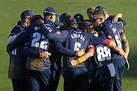 Essex players huddle during Kent Spitfires vs Essex Eagles, Vitality Blast T20 Cricket at the St Lawrence Ground on 2nd August 2018
