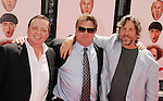 HOLLYWOOD, CA - APRIL 07: Bobby Farrelly, Mike Cerrone and Peter Farrelly attend the Los Angeles premiere of 'The Three Stooges' at Grauman's Chinese Theater on April 7, 2012 in Hollywood, California.