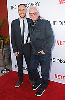 "29 March 2017 - Los Angeles, California - Charlie McDowell, Malcolm McDowell.  Premiere Of Netflix's ""The Discovery"" held at The Vista Theater in Los Angeles. Photo Credit: Birdie Thompson/AdMedia"