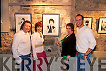 Opening : Pictured at the official opening of 'Here Come the Girls' art exhibition in St. Johns Art Centre, Listowel, on Friday night were: Maurice Hannon (Artist), Aoife Hannon, Ann Kennelly & Tadhg Kennelly..
