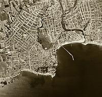 historical aerial photograph Santa Cruz, California, 1952