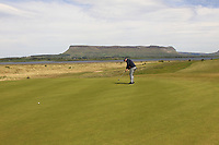 Gary Cullen (Portmarnock Links) on the 11th green during the Flogas Irish Amateur Open Championship 2019 at the Co.Sligo Golf Club, Rosses Point, Sligo, Ireland. 15/05/19<br /> <br /> Picture: Thos Caffrey / Golffile<br /> <br /> All photos usage must carry mandatory copyright credit (© Golffile | Thos Caffrey)