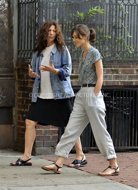 WWW.ACEPIXS.COM....July 23 2012, New York City....Actresses Catherine Keener and Keira Knightley on the set of 'Can a Song Save Your Life?' on July 23, 2012 in New York City. ......By Line: Curtis Means/ACE Pictures......ACE Pictures, Inc...tel: 646 769 0430..Email: info@acepixs.com..www.acepixs.com
