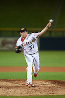 Mesa Solar Sox pitcher Greg Mahle (37) delivers a pitch during an Arizona Fall League game against the Salt River Rafters on October 23, 2015 at Sloan Park in Mesa, Arizona.  Salt River defeated Mesa 5-1.  (Mike Janes/Four Seam Images)